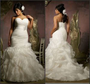 2014_New_Model_Organza_Mermaid_wedding_dress